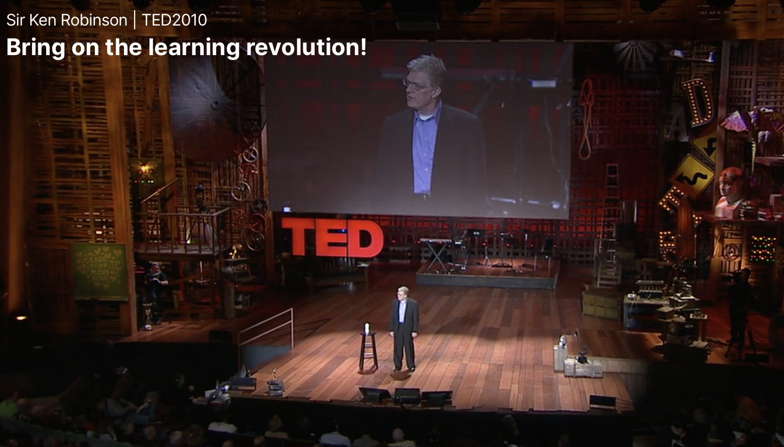 Bring on the learning revolution! Sir Ken Robinson